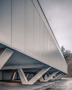 Jan Henrik Hansen adds futuristic badminton hall to Swiss sports centre