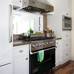 Galley kitchen Pass Through - All About Vent Hoods. Kitchen Window, Kitchen Vent Hood, Kitchen Ventilation, Kitchen Stove, Kitchen Remodel, Kitchen Redo, Kitchen Layout, Kitchen Range Hood, Kitchen Design