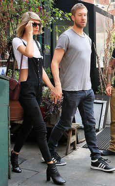 Taylor Swift e Calvin Harris são flagrados de mãos dadas em passeio