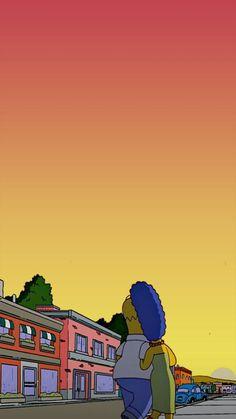 Chill Wallpaper, Apple Wallpaper, Love Wallpaper, Simpsons Tattoo, Simpsons Art, Simpson Wallpaper Iphone, Iphone Wallpaper, Homer And Marge, Imagines Tumblr