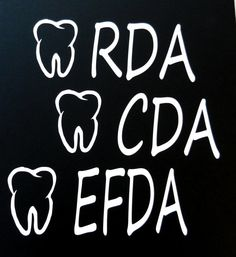 Become a EFDA. Dental assistant school almost years chair side assistants to go! Dental Assistant Quotes, Dental Humor, Sticker Vinyl, Bumper Stickers, Dental Life, Anchor Monogram, Dentistry, Tooth, Vehicle