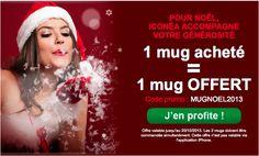 Offre de Noël Iconea.fr : 1 mug acheté = 1 mug offert !
