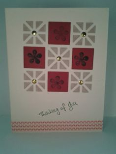 October 2016 card swap. Theme scrap card, create your card using your scraps. Created by Betsy Galbreath.