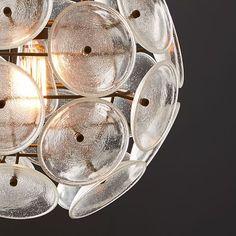 Glass Disc Round Pendant #westelm