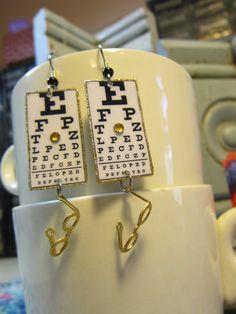 Eye Chart Earrings   by ilovemyauntdebbie on Etsy