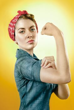 """Rosie the Riveter aka Alison Brie, she can do it, and she does double duty on 2 of my favorite shows (as Trudy Campbell on Mad Men and Annie on """"Community"""")"""