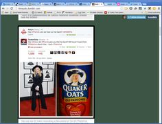 """Quaker Oats jumped into the Arby's/Pharrell Twitter """"roast beef"""" with some punches of their own."""