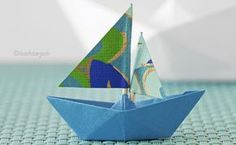 How to fold Origami Boat, www.deschdanja.ch