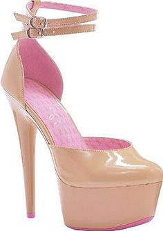 Ellie Shoes - Breast cancer awareness shoe 100 percent of proceeds will be donated to National Breast Cancer Coalition. Features 6' stiletto heel, platform front and double ankle strap. - #ellieshoes #tanshoes