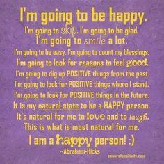 I am happy person.