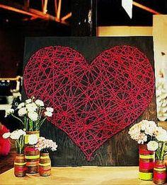 Haz un corazón con hilos en madera | Mimundomanual