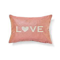Pink Love Pillow. #abchome