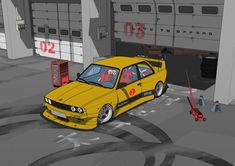 New illustrayion - with LTO bodykit Street Racing Cars, Auto Racing, Drag Racing, Cool Car Drawings, Jdm Wallpaper, Bmw Wallpapers, Bmw Wagon, Bmw Love, Super Sport Cars