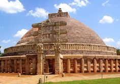 Great Stupa at Sanchi - The Great Stupa at Sanchi is the oldest stone structure in India and was originally commissioned by emperor Ashoka the Great in the 3rd century BC. Its core was a simple brick dome, supposedly built over the relics of the Buddha
