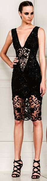 Miss Millionairess: Zuhair Murad sparkly black cocktail dress