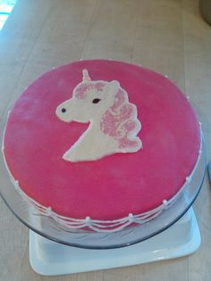 Strawberry-creme-cake with selfmade Pony