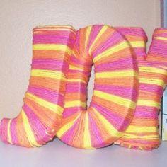 Custom Nursery Yarn-Wrapped Letters DIY