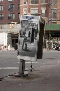 Inception Style Phone Booth Art in NYC by Jordan Seiler