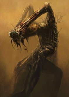 Ryohei Hase paints an fantastically dark organic world of movement and surrealism