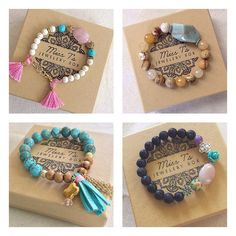 Give the gift of handmade this Mother's Day!  Dozens of stackable bracelets are available to choose from in my Build a Bracelet Stack shop section!  All items ship in a jewelry box and are ready for gift giving. Special coupon code in product description!