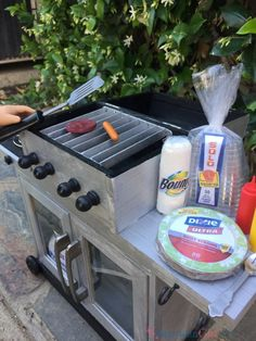 This American Girl Grill turned out perfect. It was so easy to make! I found everything for just a few dollars!