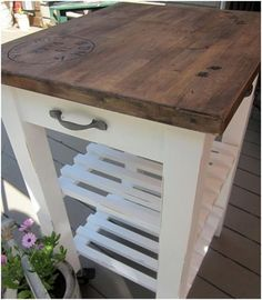 Ikea butcher block island REDO from homeroad