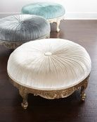 Massoud Scala Light Round Ottoman is part of Furniture - Shop Scala Light Round Ottoman from Massoud at Horchow, where you'll find new lower shipping on hundreds of home furnishings and gifts Round Ottoman, Chair And Ottoman, Tufted Ottoman, Leather Ottoman, Ottoman Furniture, Settee, Living Room Furniture, Home Furniture, Home Decor Ideas