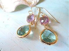 Erinite and Lavender    ピアス14kgf