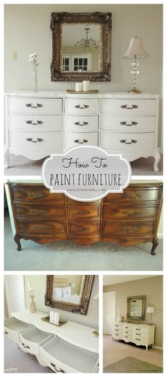 How To Paint Furniture: Great tutorial anyone can use to update old furniture!