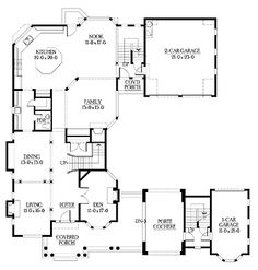 Classical symetrical Palladian house plan traditional New