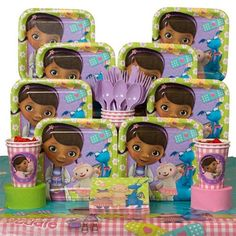 Doc McStuffins Deluxe Kit (Serves 8) - , and Birthday Party Supplies