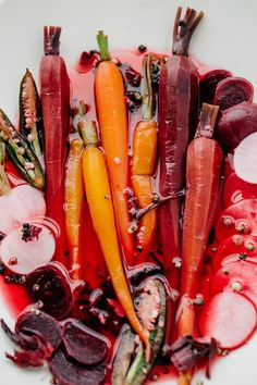 Hibiscus Jalapeño Quick Pickled Veggies