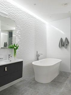 Wandgestaltung mit dekorativem Effekt-3D Wandfliesen Muster-indirektes Deckenlicht