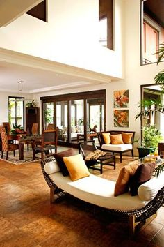 Pinoy Eclectic Style: Bring Back the Old Tropical Interior, Asian Interior, Interior Exterior, Modern Interior, Home Interior Design, Modern Filipino House, Filipino Interior Design, Eclectic Decor, Eclectic Style