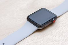 Apple Watch Sport Space Grey Case with Fog Sport Band.