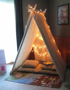 spielerische Zelte für Kinder beleuchtung idee