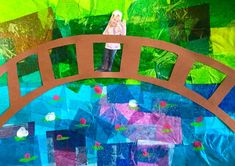Art lessons elementary - MORE Mixed Media Bridges inspired by Monet! Art Videos For Kids, Art For Kids, Speed Art, Arts Integration, Art Lessons Elementary, Preschool Art, Kindergarten Art, Art Lesson Plans, Art Classroom