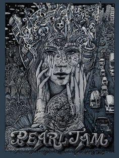 Pearl Jam Sao Paulo Brazil Poster by David Welker