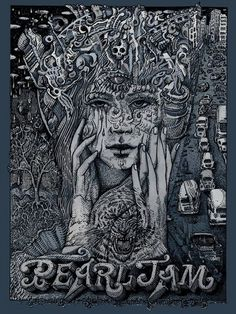 Pearl Jam Sao Paulo Brazil Poster by David Welker