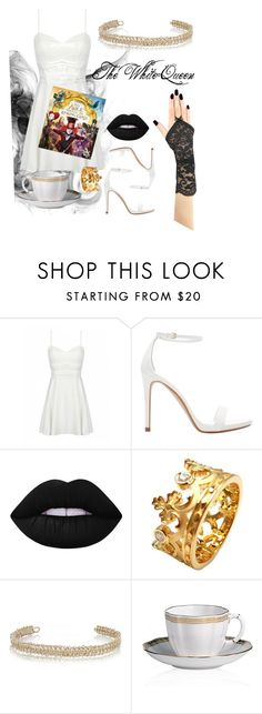 """Disneybound"" by sianerb ❤ liked on Polyvore featuring Zara, Lime Crime, Carrera y Carrera, Maison Margiela, Royal Crown Derby, contestentry and DisneyAlice"