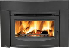 Napoleon , Napoleon 55000 BTU Insert Wood Burning Fireplace with Contemporary Front f Black Fireplace Insert Wood. Wood Burning Insert, Wood Burning Fireplace Inserts, Wood Insert, Mounted Fireplace, Ethanol Fireplace, Black Fireplace, Fake Fireplace, Fireplaces, Door Switch