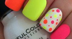 20 Diseños de Uñas de color Neón - Elegante y único - Manicure