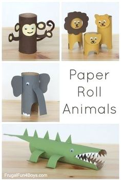 Toilet Paper Roll Crafts - Get creative! These toilet paper roll crafts are a great way to reuse these often forgotten paper products. You can use toilet paper rolls for anything! creative DIY toilet paper roll crafts are fun and easy to make. Toilet Paper Roll Crafts, Diy Paper, Paper Crafting, Toilet Roll Art, Cardboard Crafts, Cardboard Rolls, Diy Projects With Toilet Paper Rolls, Paper Craft For Kids, Art Crafts For Kids