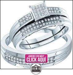 Los hombres y las mujeres es de diamante blanco 25CTW 10 K 0.oro blanco conjunto boda del trío GND52098  ✿ Joyas para hombres especiales - lujo ✿ ▬► Ver oferta: https://comprar.io/goto/B00DK19OOO