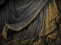 French painted Theatrical backdrop drapery.  Lush!