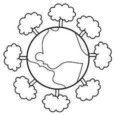 Top 15 Free Printable Earth Coloring Pages Online Earth Free