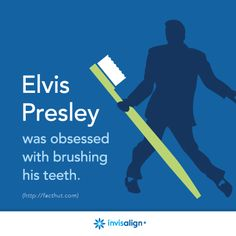 Elvis was obsessed with brushing his teeth. How many times a day do you brush? Check out some cool apps for your oral health care http://blog.dmsmiles.com/5-apps-benefit-dental-hygiene/