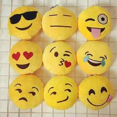 4pcs Emoji Poop Smiley Face emoticon Plush clip-on keychain backpack accessory