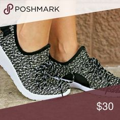 Fly Knit Sneakers You can lace them or use them as slip on! No box Shoes Athletic Shoes
