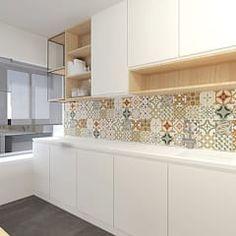 50 Best Modern Kitchen Design Ideas - The Trending House Kitchen Tiles Design, Kitchen Cabinet Design, Modern Kitchen Design, Interior Design Kitchen, Modern Kitchen Interiors, Home Decor Kitchen, Home Kitchens, Rustic Country Kitchens, Country Kitchen Designs